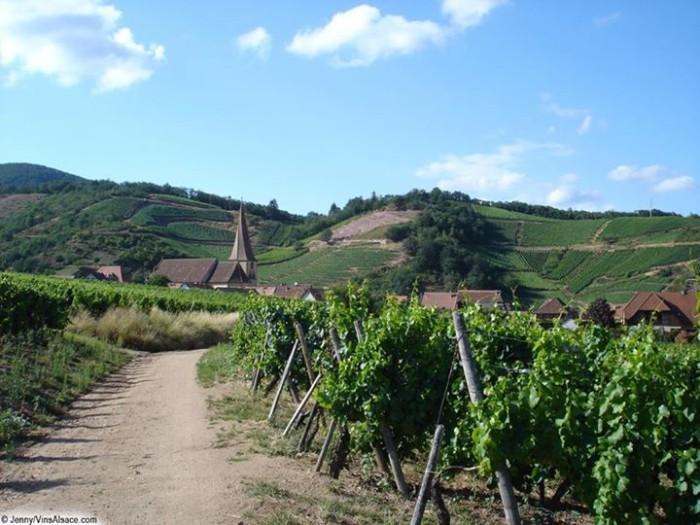 Sur la route des vins d'Alsace, le village d'Hunawihr