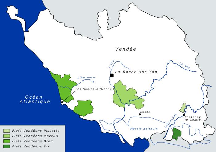 Carte Fiefs Vendéens