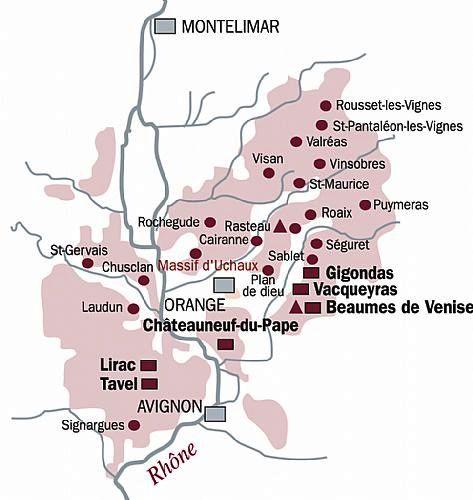Massif d'Uchaux au coeur des appellations C^tes du Rhône Villages