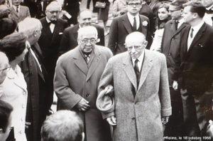 Léonard Fujita et René Lalou en 1966