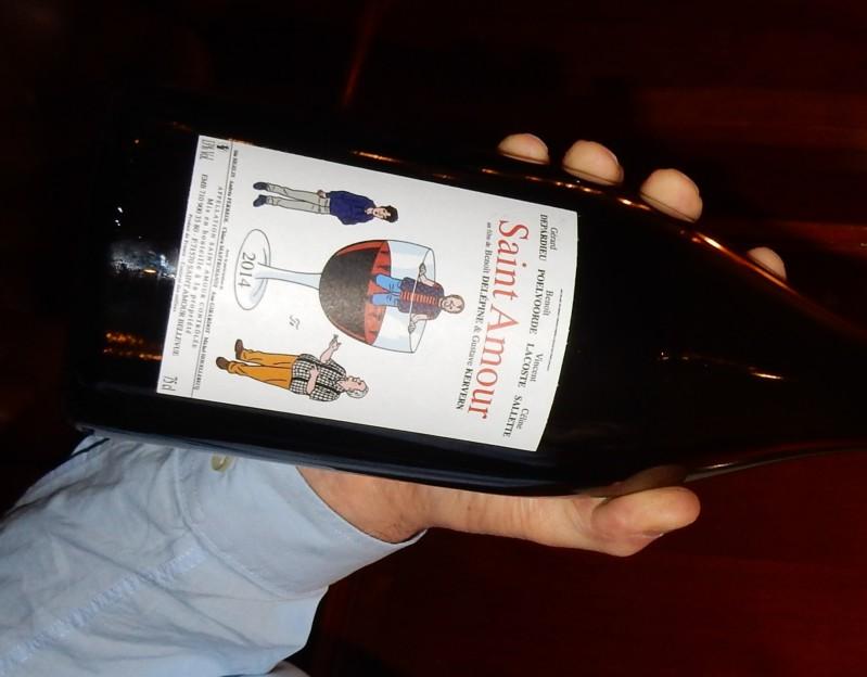 Saint-Amour bouteille et film