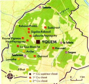 Carte du château d'Yquem