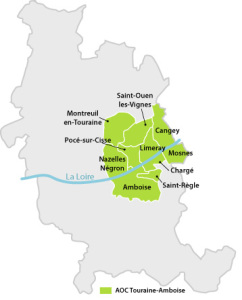 Carte de l'appellation Touraine Amboise