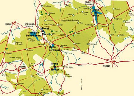 Carte de la Forêt domaniale de Tronçais © ONF
