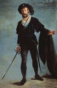 Le Hamlet d'Ambroise Thomas peint peint par Edouard  Manet