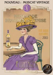 Affiche vintage pour le Muscat Beaumes de Venise