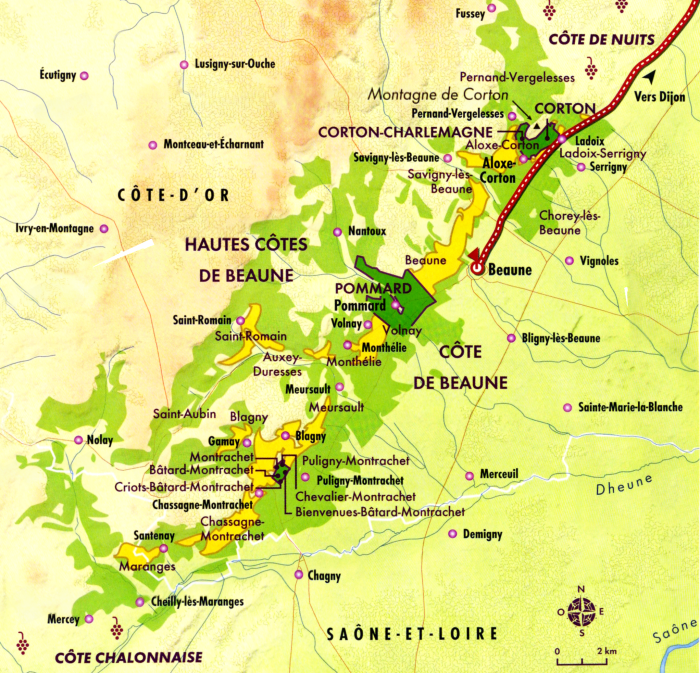 Volnay c te de beaune appellation village et premiers for Tuile cote de beaune