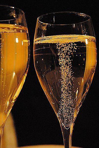 Effervescent (vins effervescents) mousseux, pétillant, fines bulles, perlant