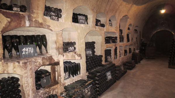 Vinothèque de la maison de Castellane