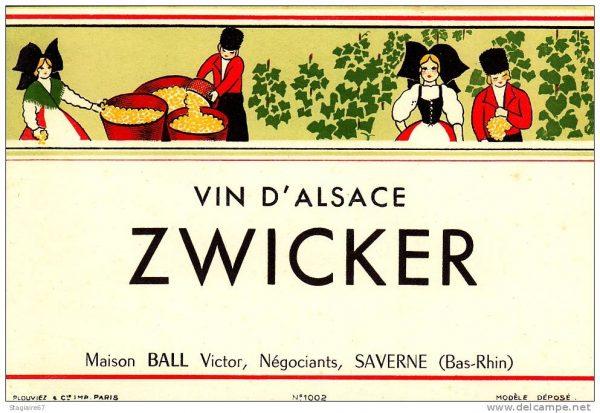 Zwicker (Alsace) voir Edelzwicker