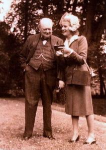 Churchill et Odette Pol-Roger