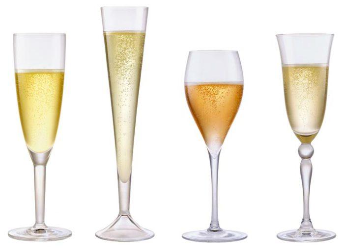 Différentes flûtes de Champagne