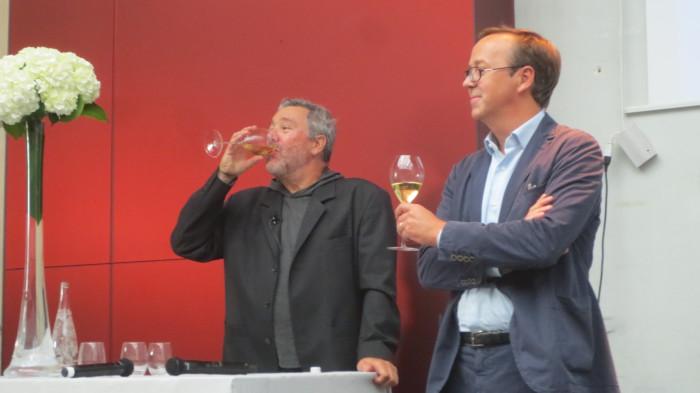 Philippe Starck et Frédéric Rouzaud, Directeur Général de Louis Roederer