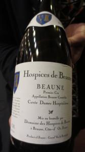 Beaune Premier Cru, vin des Hospices de Beaune