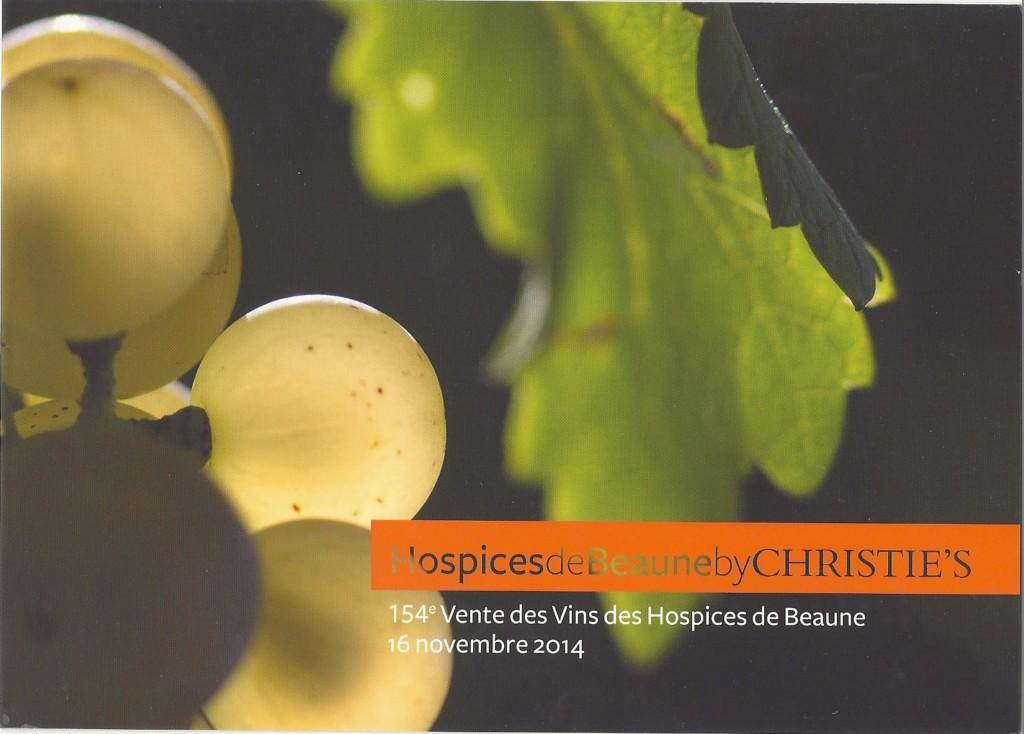 Vente vins 2014 Hospices de Beaune