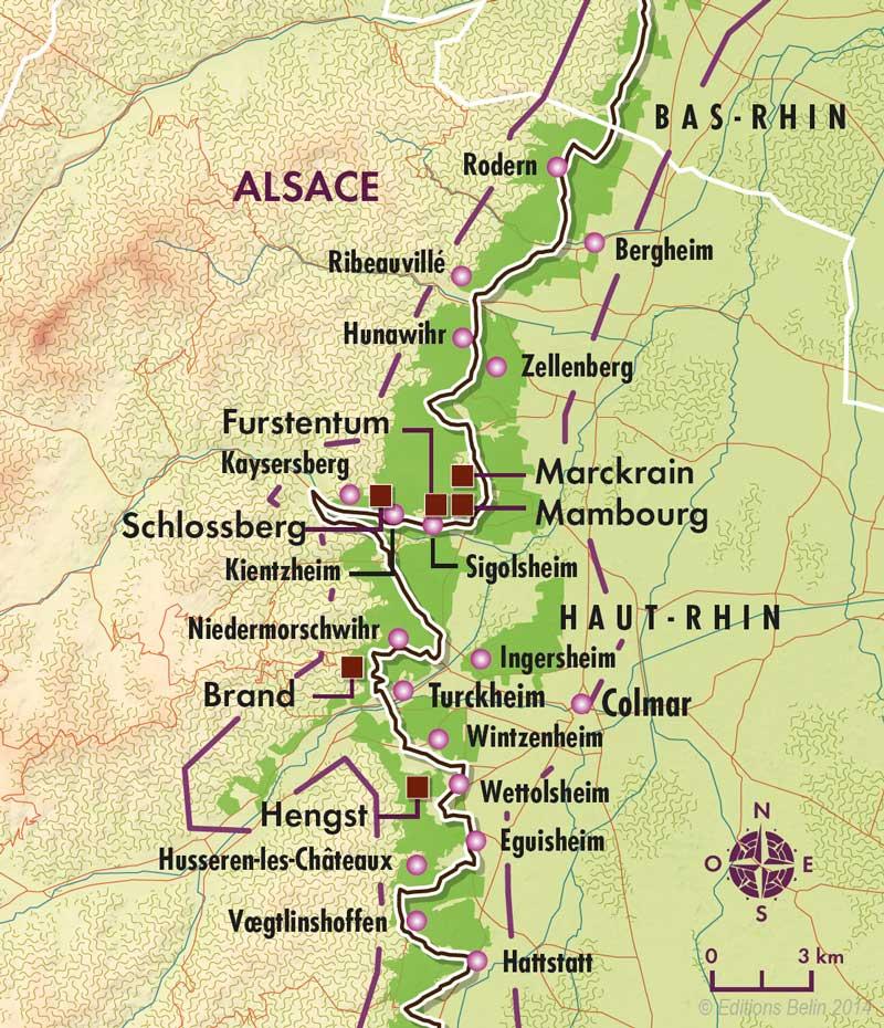 Carte Alsace Bergheim.Carte De L Alsace Viticole Dico Du Vin Le Dictionnaire Du Vin