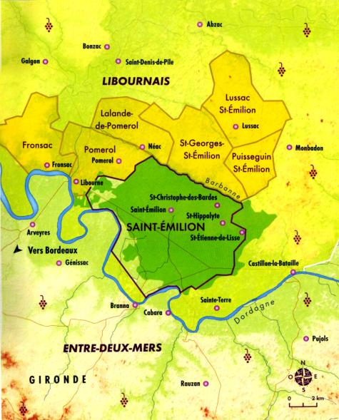 Carte de Saint-Emilion