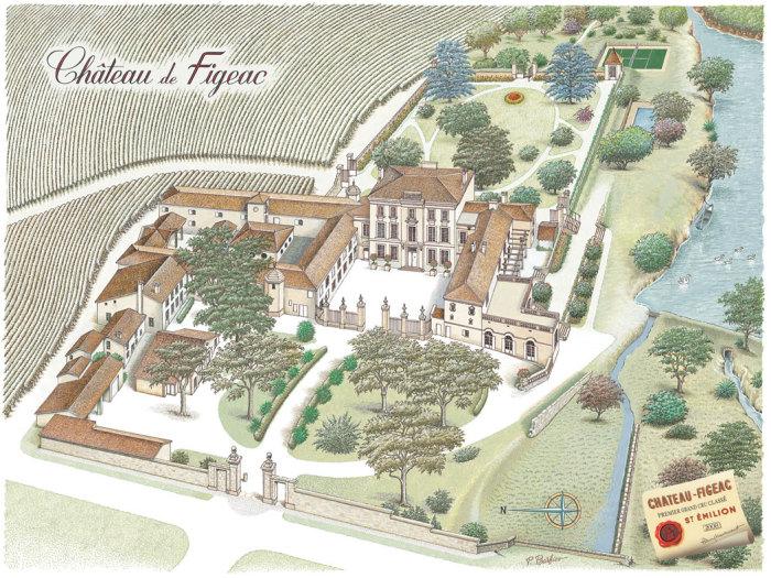 Gravure du Château de Figeac © P.Barbier