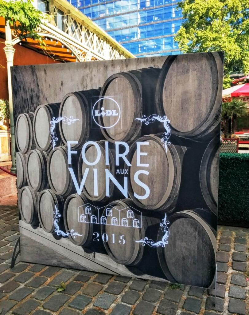 lidl affiche Foire au vin 2015