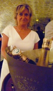 Carol Duval-Leroy lors de la présentation du Champagne sur mesure
