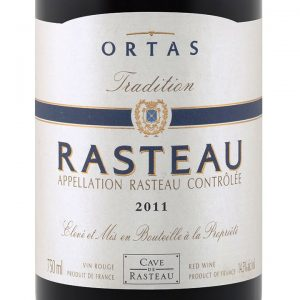 Rasteau 2011 Ortas Tradition