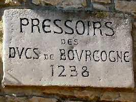 Les pressoirs des ducs de Bourgogne