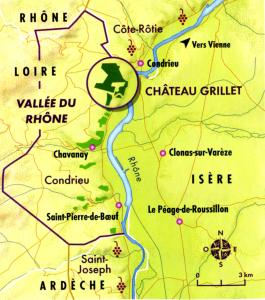 Carte appellation Condrieu