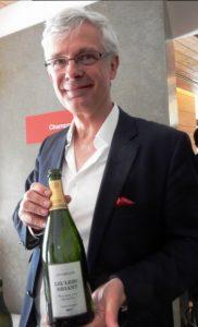 Frédéric Zeimitt, propriétaire du Champagne Leclerc Briant à Paris
