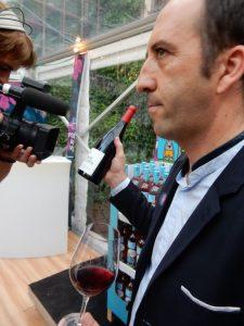 Lidl 2016 Jean-Marc Lafage (Domaine Lafage) présentant son Côtes du Roussillon Bastide Miraflors DSCN2642
