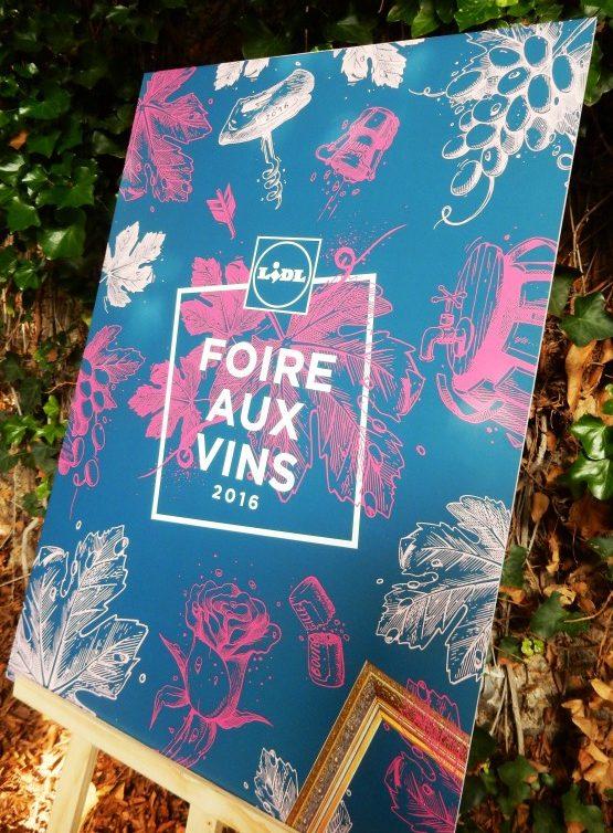 Lidl affiche Foire aux vins 2016