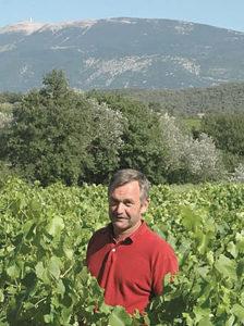 Christian Sauvayre du domaine le Puy-du-Maupas à Vinsobres