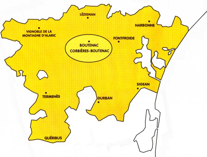 Carte des Corbières