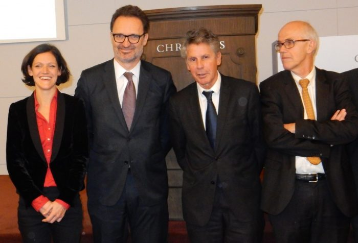 En 2015, Antoine Jacquet à droite, directeur des Hospices de Beaune