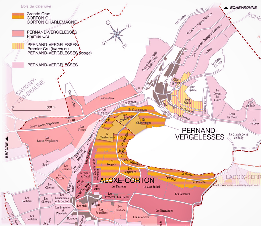 Carte montagne de Corton