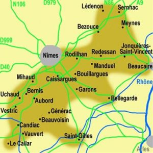 Carte Costières de Nîmes)