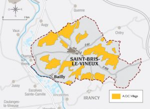 Carte de Saint-Bris-le-Vineux