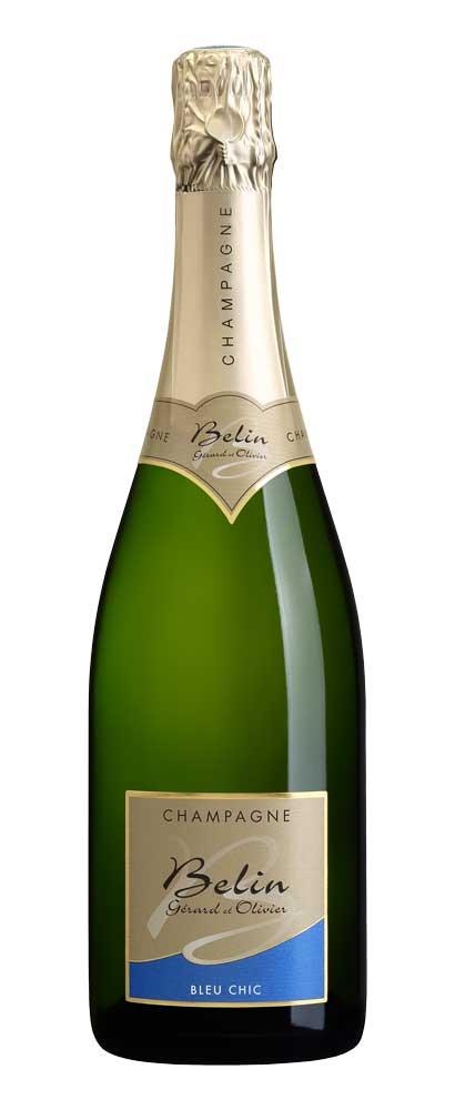 Bouteille de Champagne Bleu-Chic par Gérard et Olivier Belin