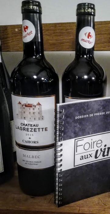 Pour la Foire aux vins Carrefour 2018, ce Château Lagrezette à moins de 20€ (Photo FC)