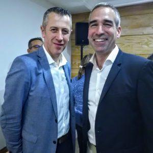 Deux des piliers de cette Foire aux vins 2018, Frédérick Fuchs Président LIDL France (à droite) et Michel Biero Directeur exécutif achats et marketing de l'enseigne (Photo FC)