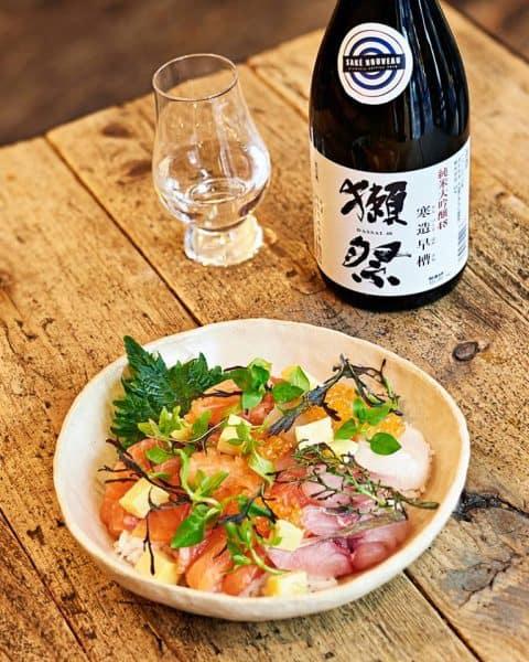 Ce saké nouveau Dassai s'harmonise parfaitement à la cuisine de Dersou à Paris 12e (Photo Philippe Levy)