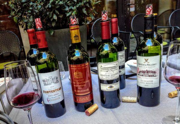 Crus Bourgeois Millésime 2016 (Sélection officielle) dans l'appellation Haut-Médoc : Château Fontesteau (15 €), Château Larose-Trintaudon, Château Magnol (22 €) et Château de Malleret (17,50 €) (Photo FC)